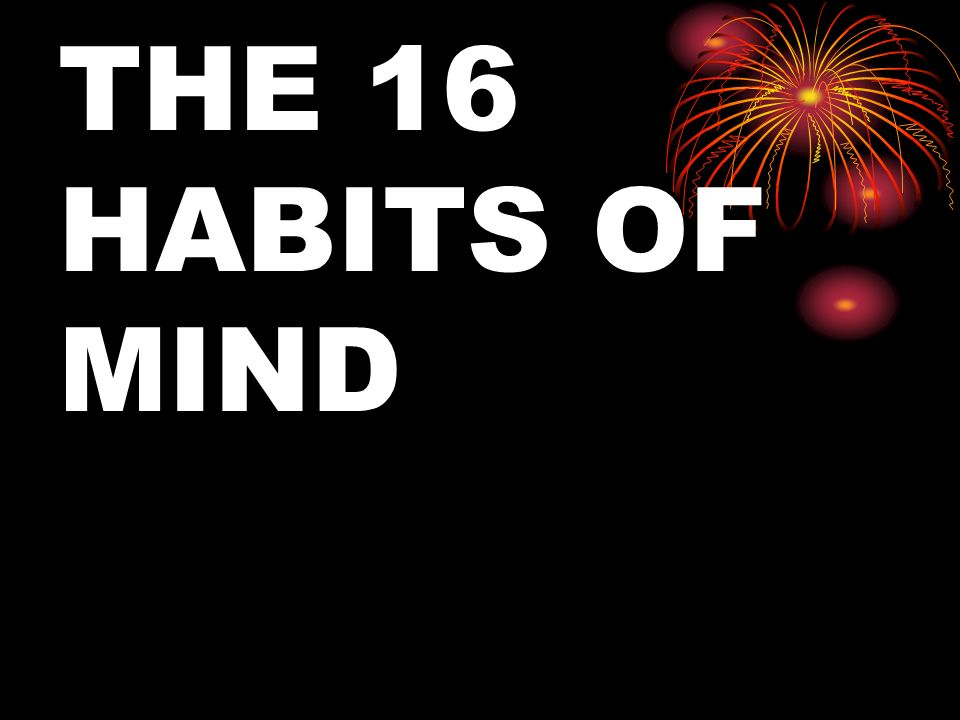 THE 16 HABITS OF MIND