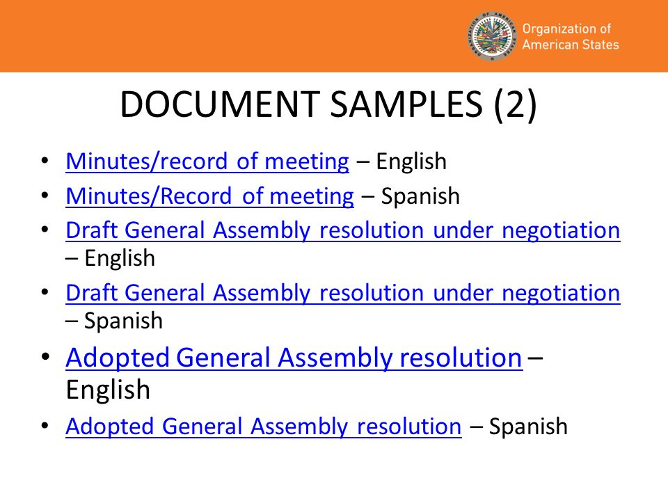 DOCUMENT SAMPLES (2) Adopted General Assembly resolution – English