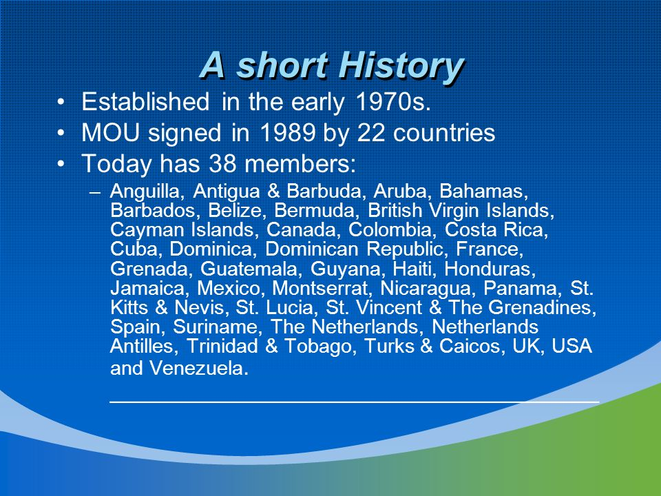 A short History Established in the early 1970s.