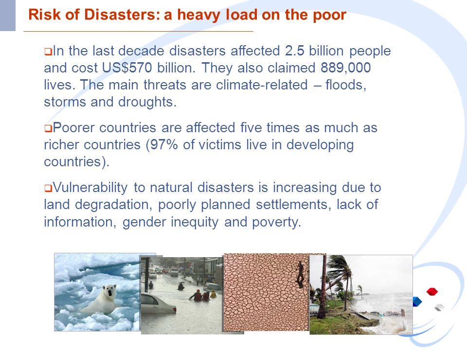 Risk of Disasters: a heavy load on the poor