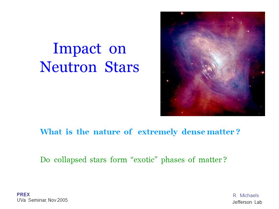 Impact on Neutron Stars