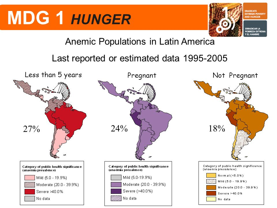MDG 1 HUNGER Anemic Populations in Latin America