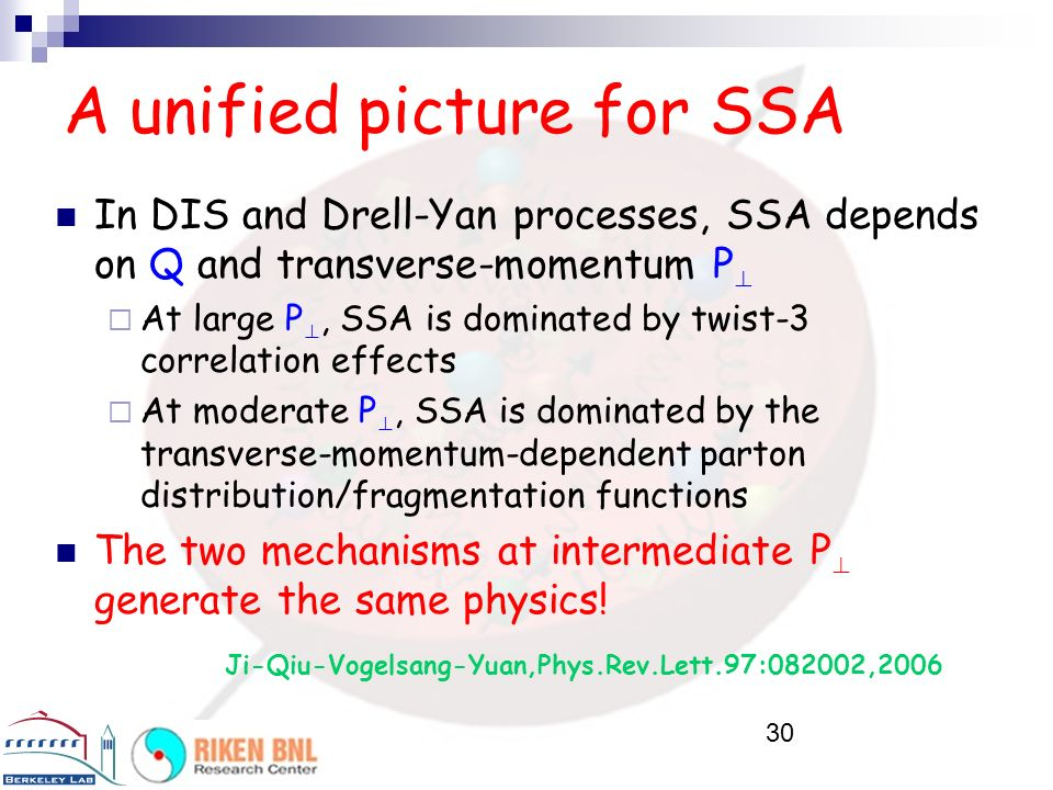 A unified picture for SSA