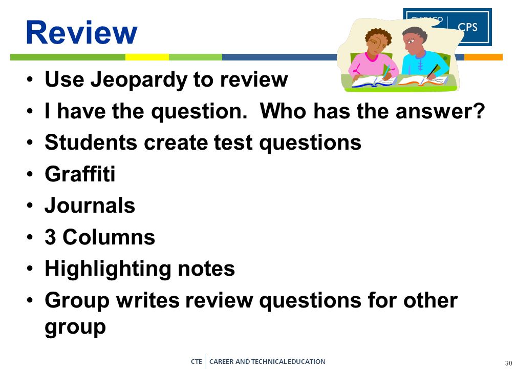 Review Use Jeopardy to review I have the question. Who has the answer