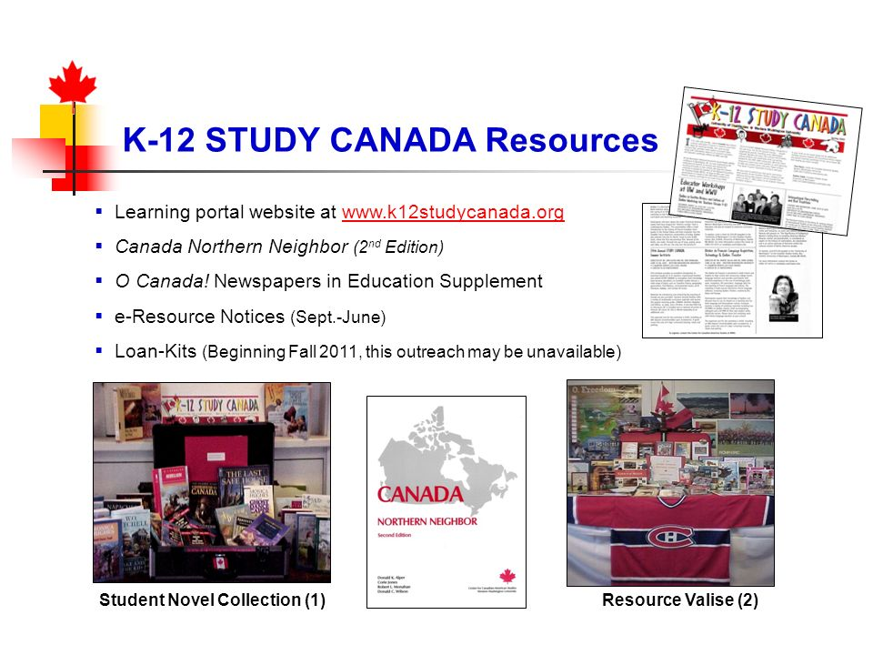 K-12 STUDY CANADA Resources