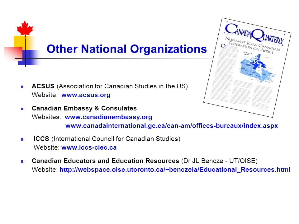 Other National Organizations