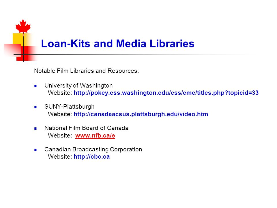 Loan-Kits and Media Libraries