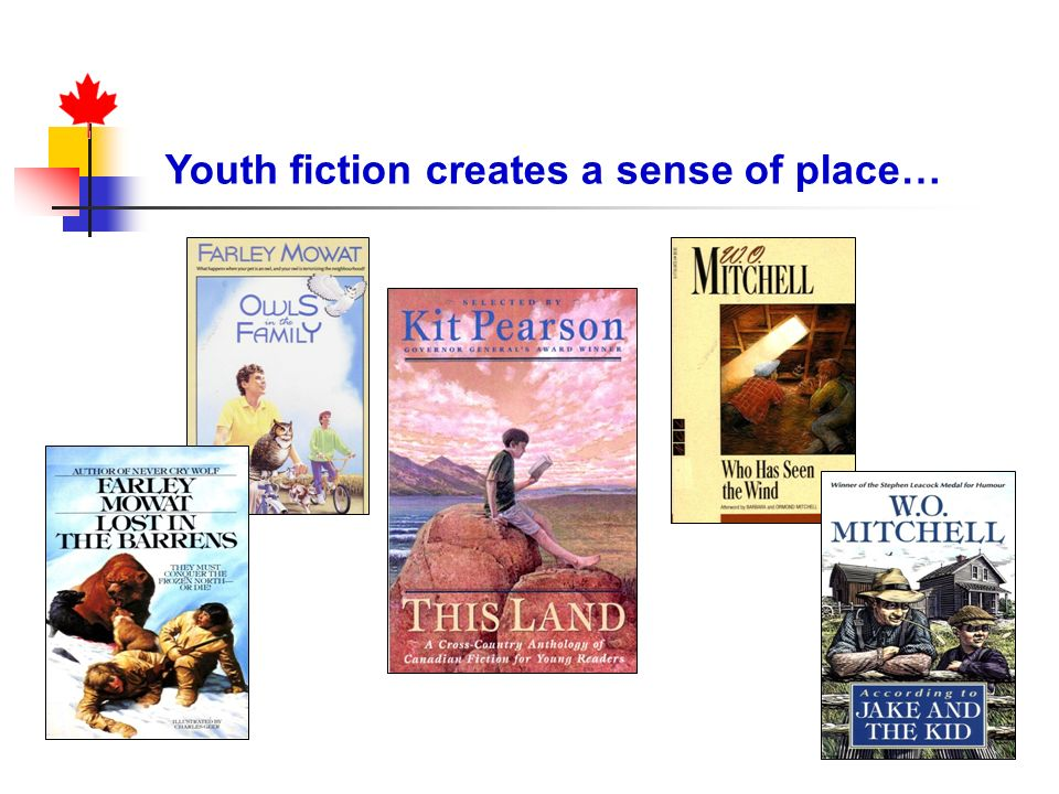 Youth fiction creates a sense of place…