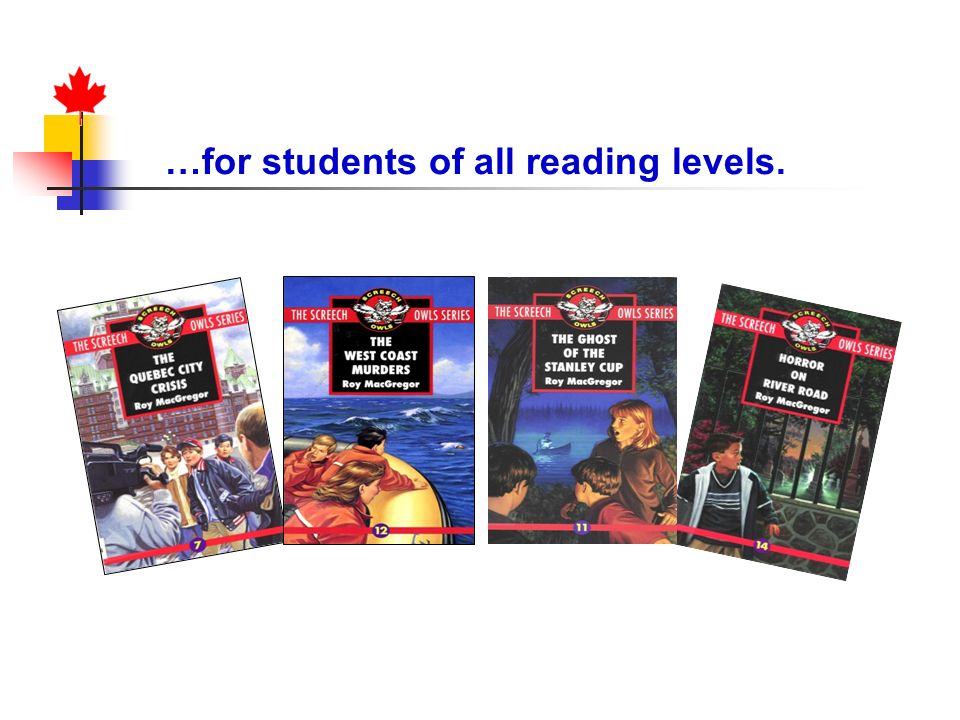 …for students of all reading levels.