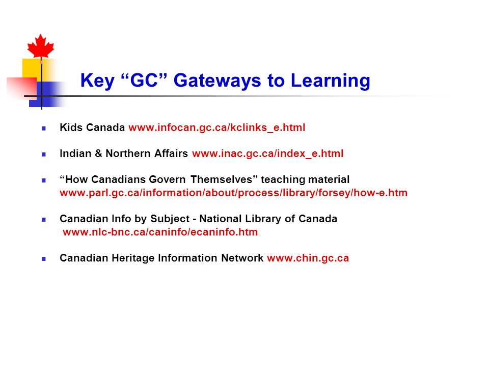 Key GC Gateways to Learning