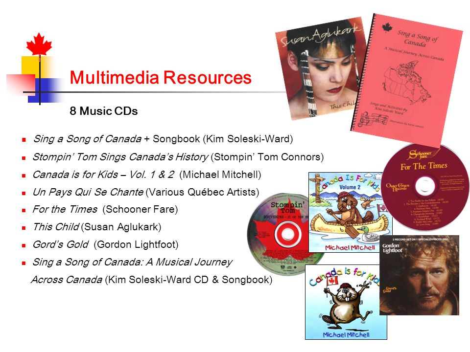 Multimedia Resources 8 Music CDs