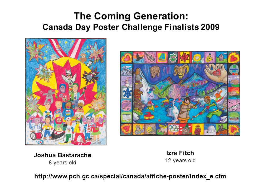 The Coming Generation: Canada Day Poster Challenge Finalists 2009