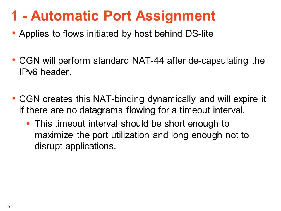 1 - Automatic Port Assignment