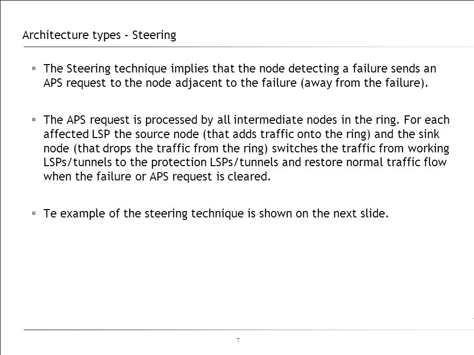 Architecture types – Steering