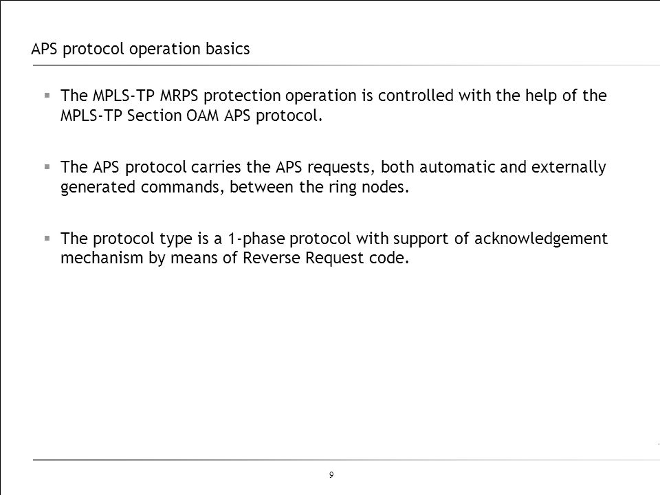 APS protocol operation basics