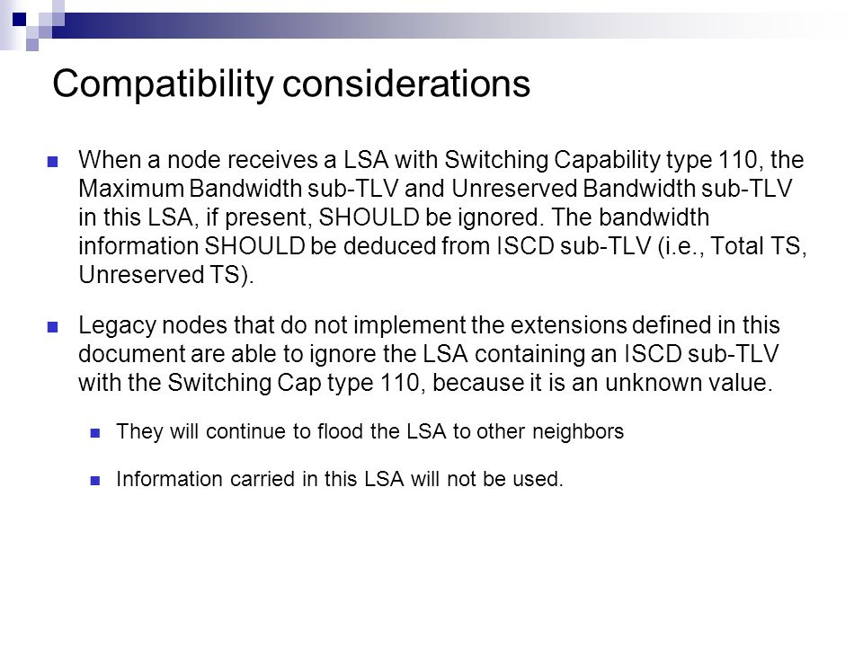 Compatibility considerations
