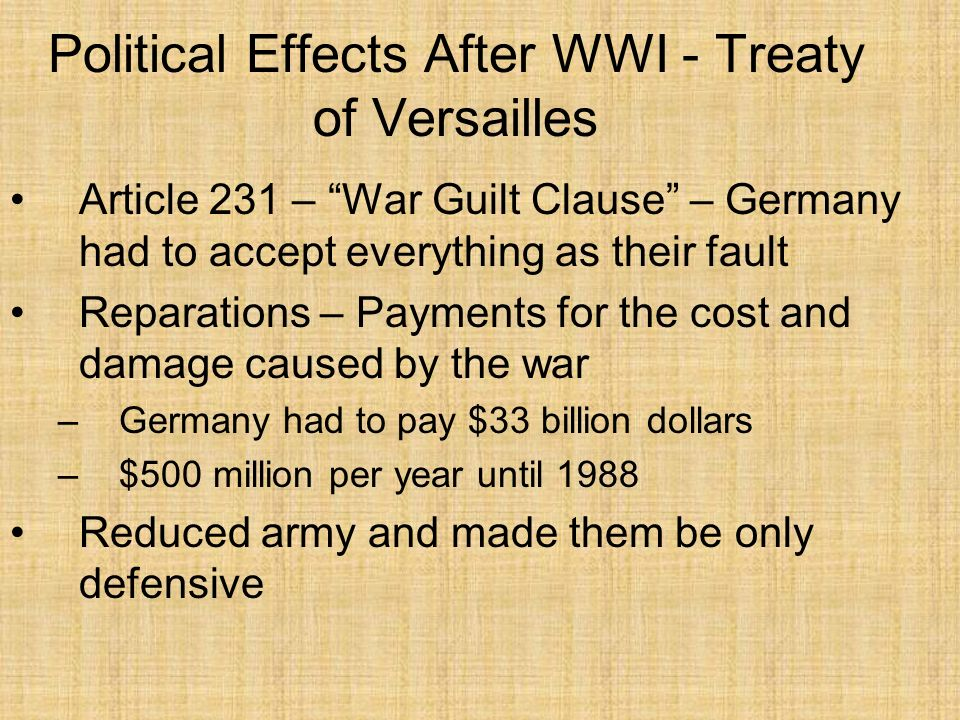 treaty of versailles essay essay The treaty of versailles (french: traité de versailles) was the most important of the peace treaties that brought world war i to an end the treaty ended the state of.
