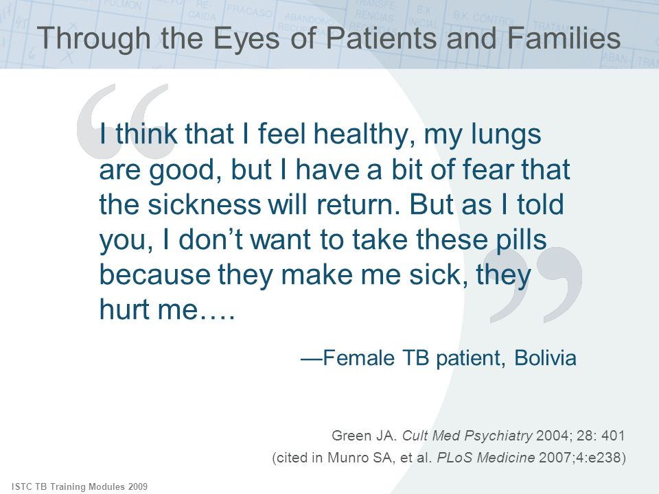 Through the Eyes of Patients and Families