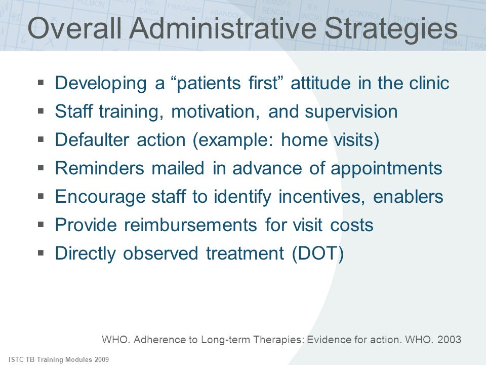Overall Administrative Strategies