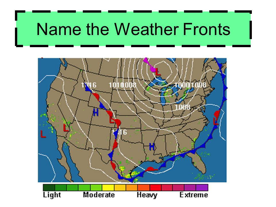 Name the Weather Fronts
