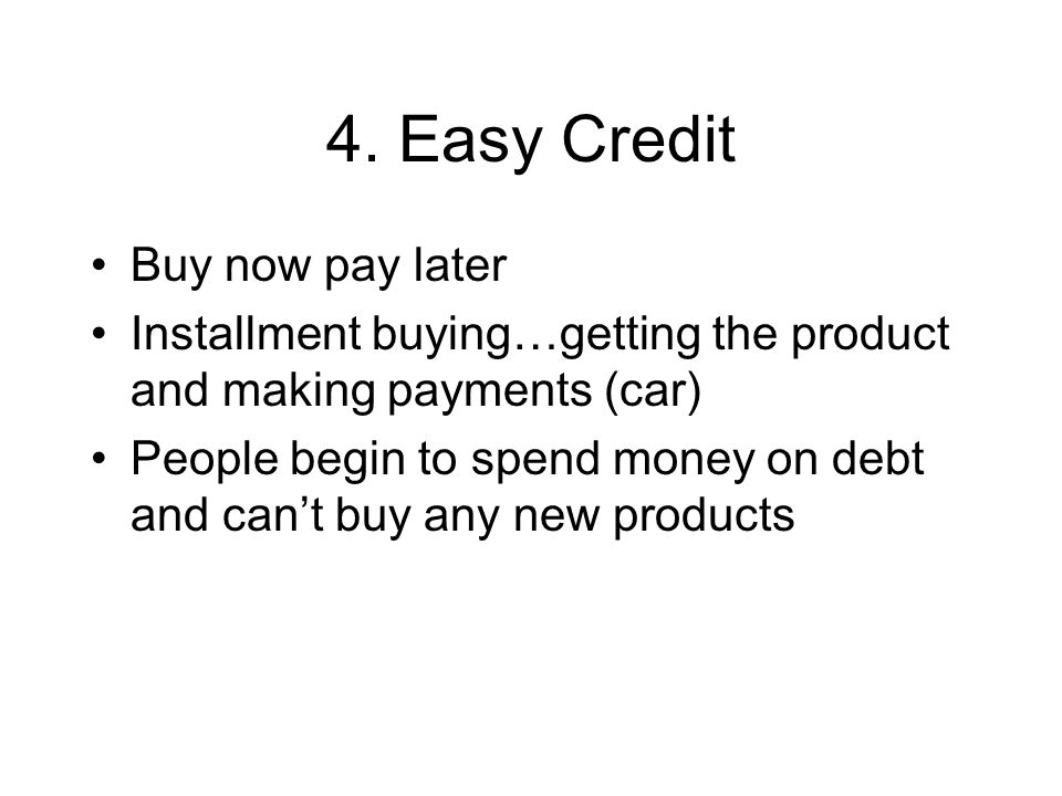 4. Easy Credit Buy now pay later