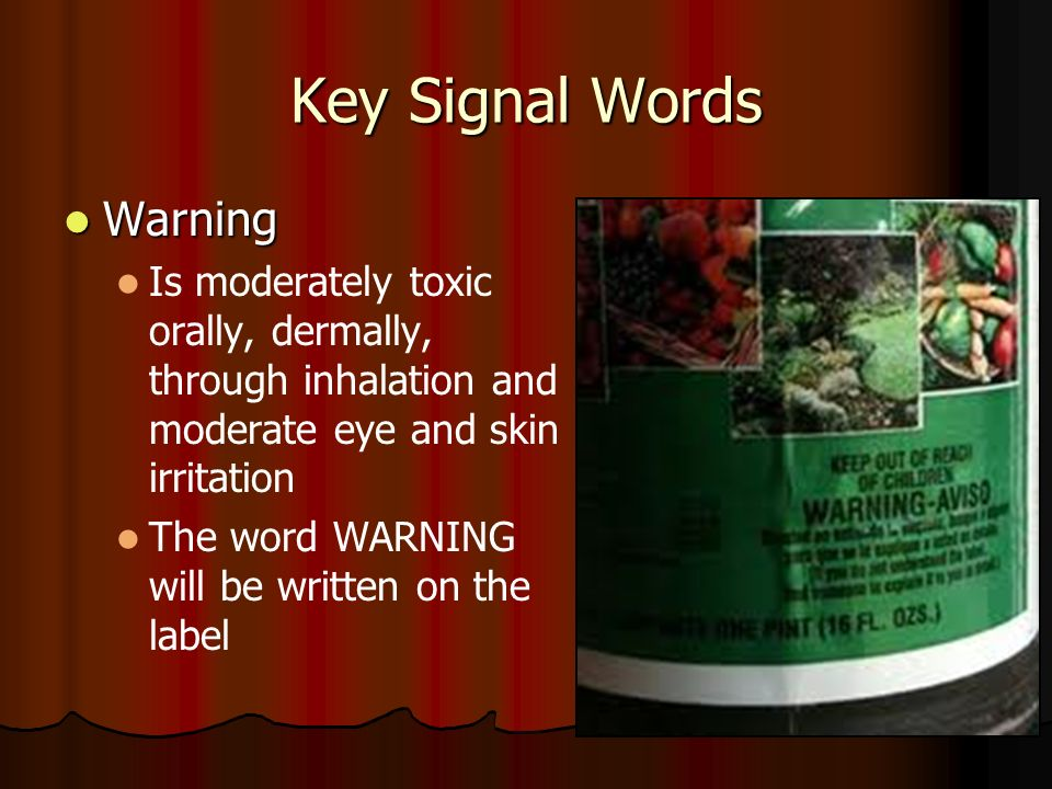 Key Signal Words Warning