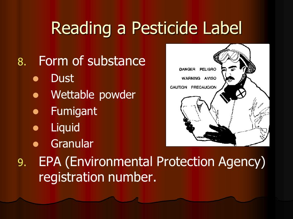 Reading a Pesticide Label