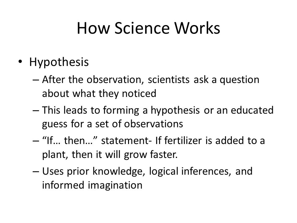how to make a hypothesis in science