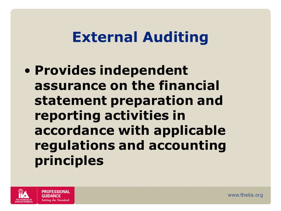 External Auditing