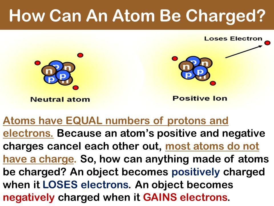 How Can An Atom Be Charged