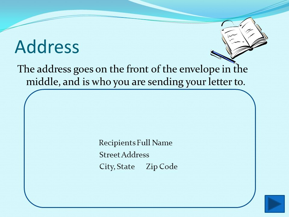 front of letter how to address an envelope ppt 858