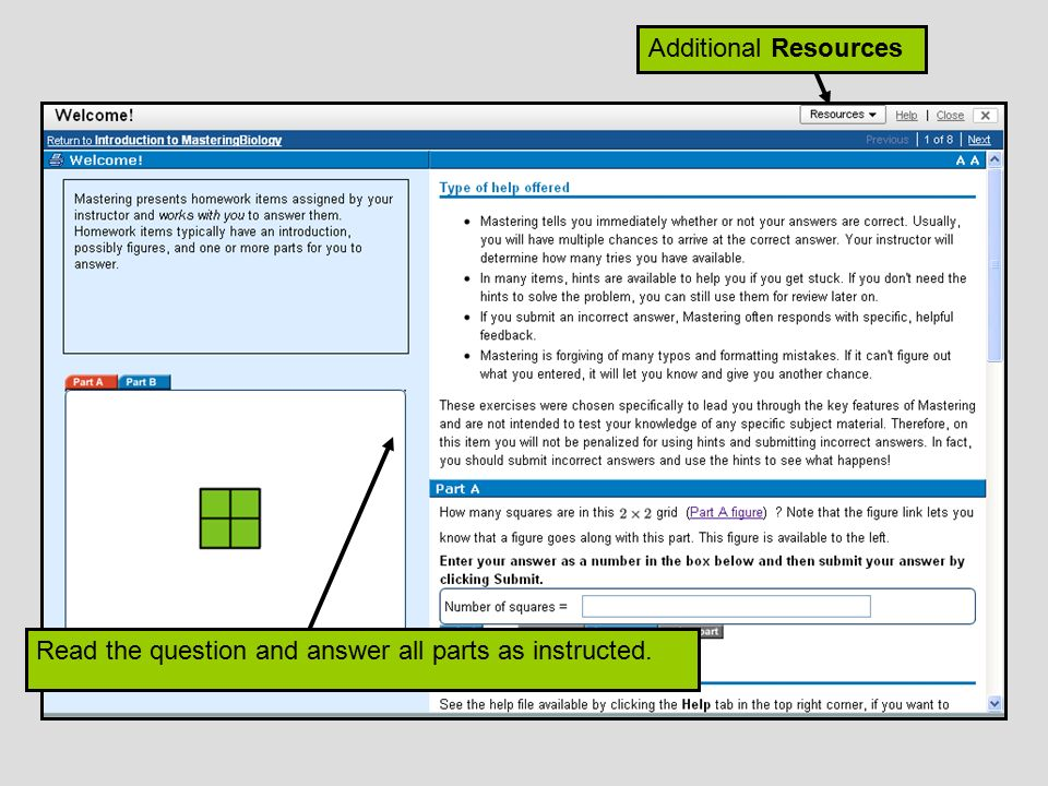 Additional Resources Read the question and answer all parts as instructed.