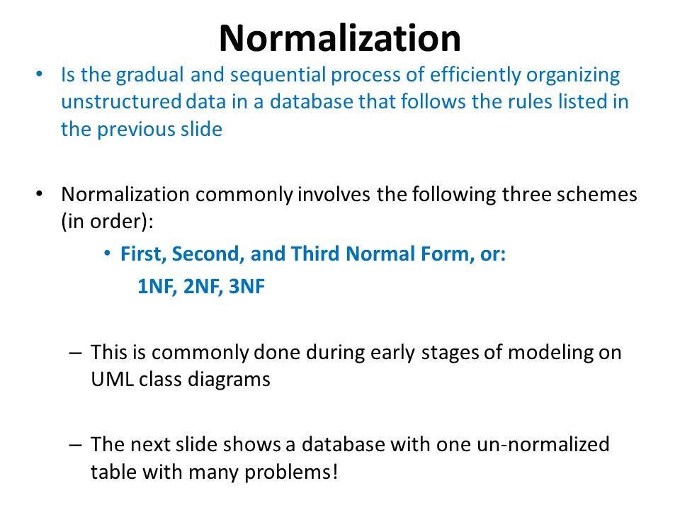 Database requires normalization ppt video online download normalization ccuart Choice Image