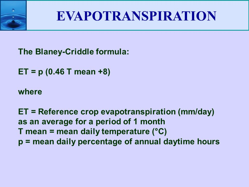 Is there any software or model for evapotranspiration calculation?