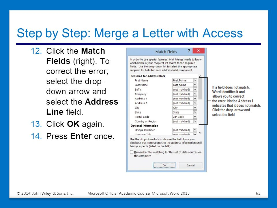 Performing Mail Merges - ppt download