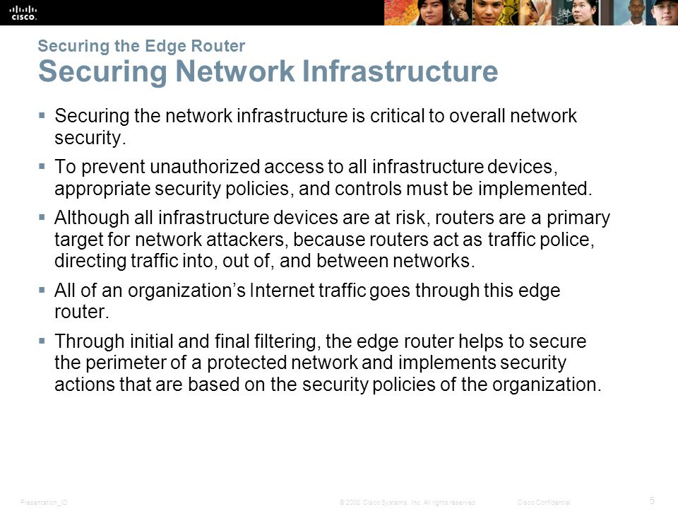 Chapter 2: Securing Network Devices - ppt download