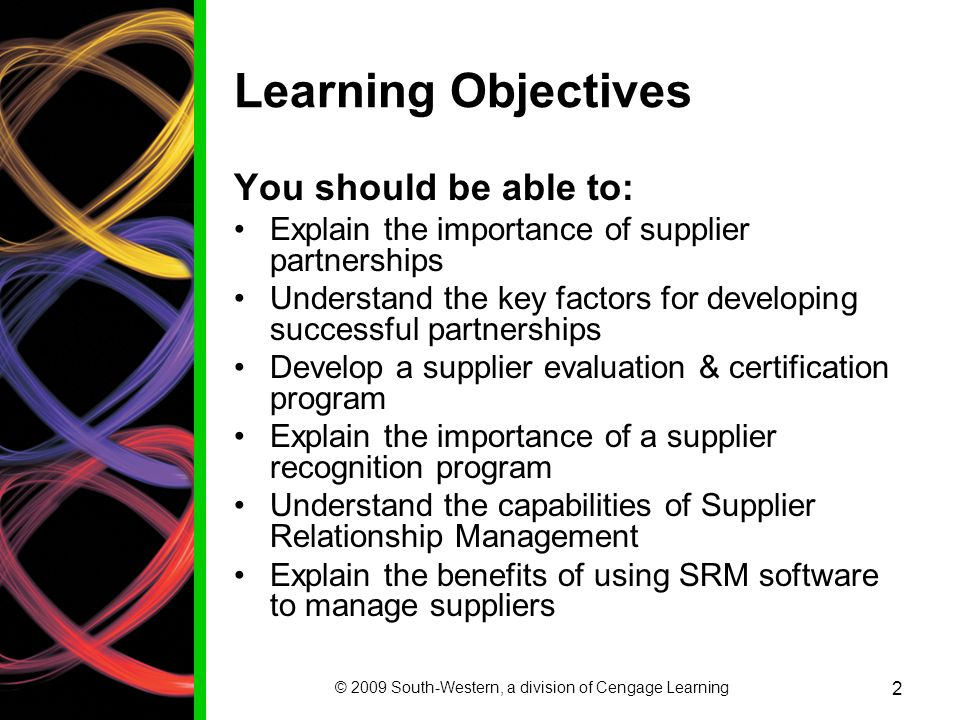 CHAPTER 3 CREATING & MANAGING SUPPLIER RELATIONSHIPS - ppt