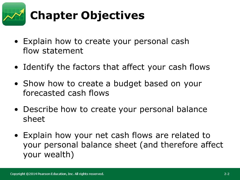 chapter objectives explain how to create your personal cash flow statement identify the factors that