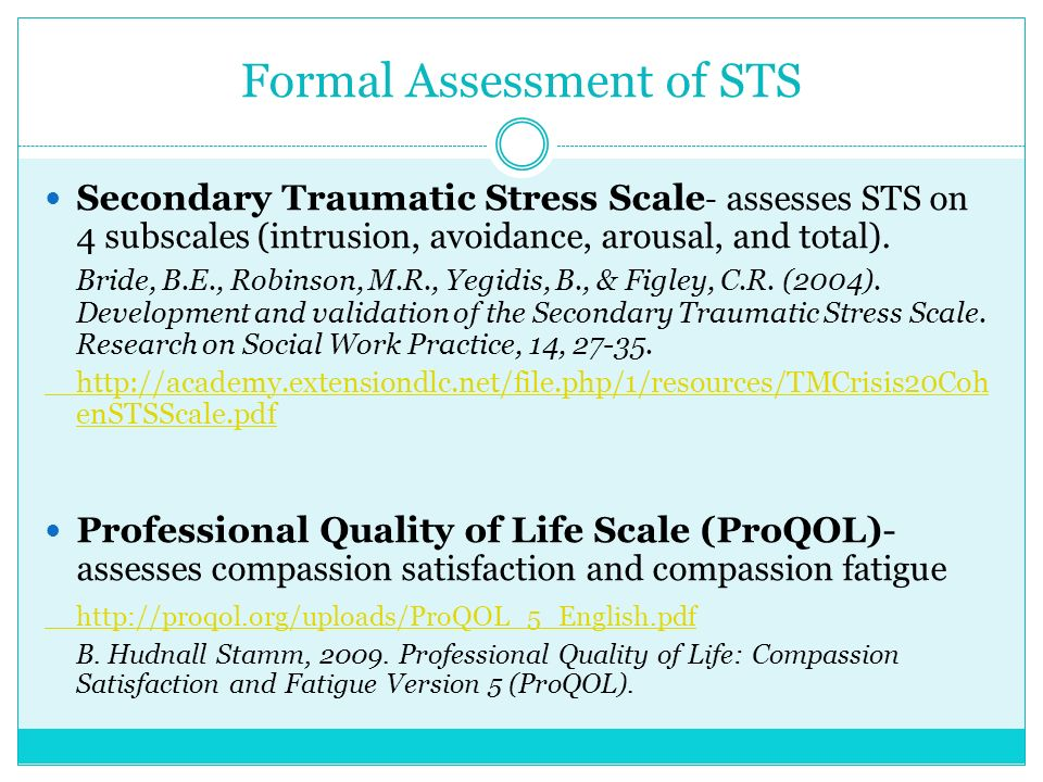Secondary Traumatic Stress For >> Secondary Trauma Presented By Olive Crest Mental Health Program