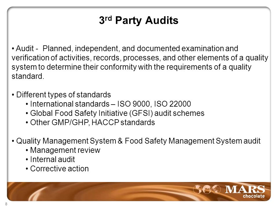 3rd Party Audits and Regulatory Inspections Food Industry