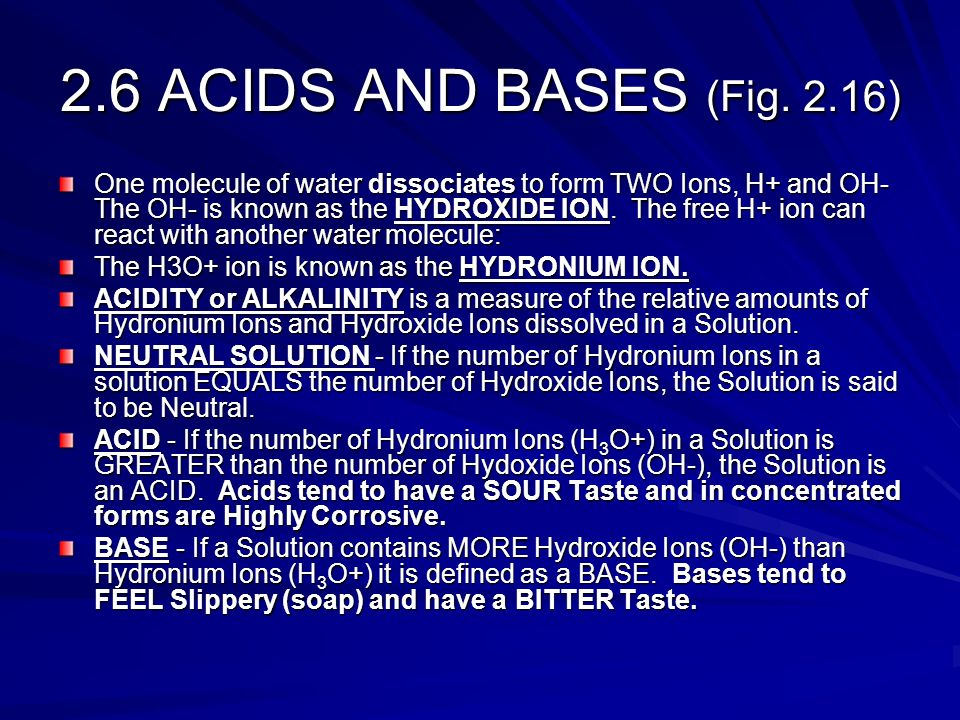 2.6 ACIDS AND BASES (Fig. 2.16)
