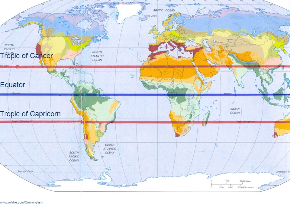 Australia Map Tropic Of Capricorn.Equator On Map Tropic Of Cancer Capricorn Prime 991 X 562 Pixels