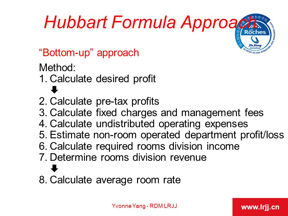 whats the hubbart formula