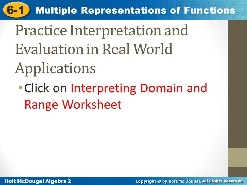 61 Multiple Representations Of Functions Warm Up Ppt Download. Practice Interpretation And Evaluation In Real World Applications. Worksheet. Interpreting Function Graphs Worksheet At Mspartners.co