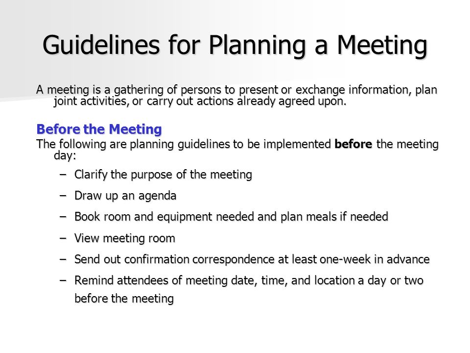 meeting etiquette guidelines