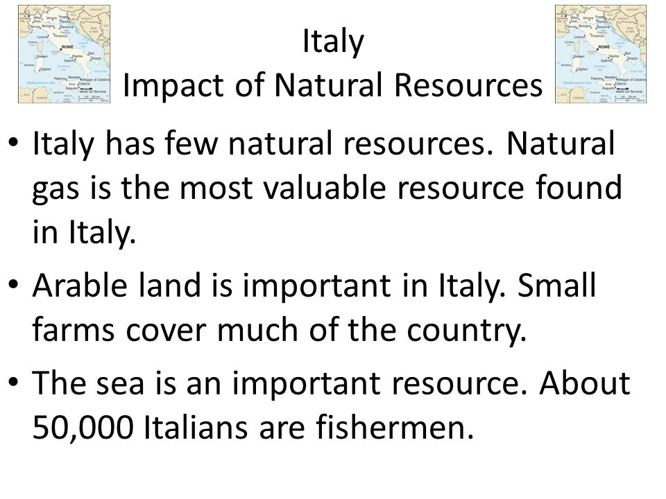 Italy Impact of Natural Resources