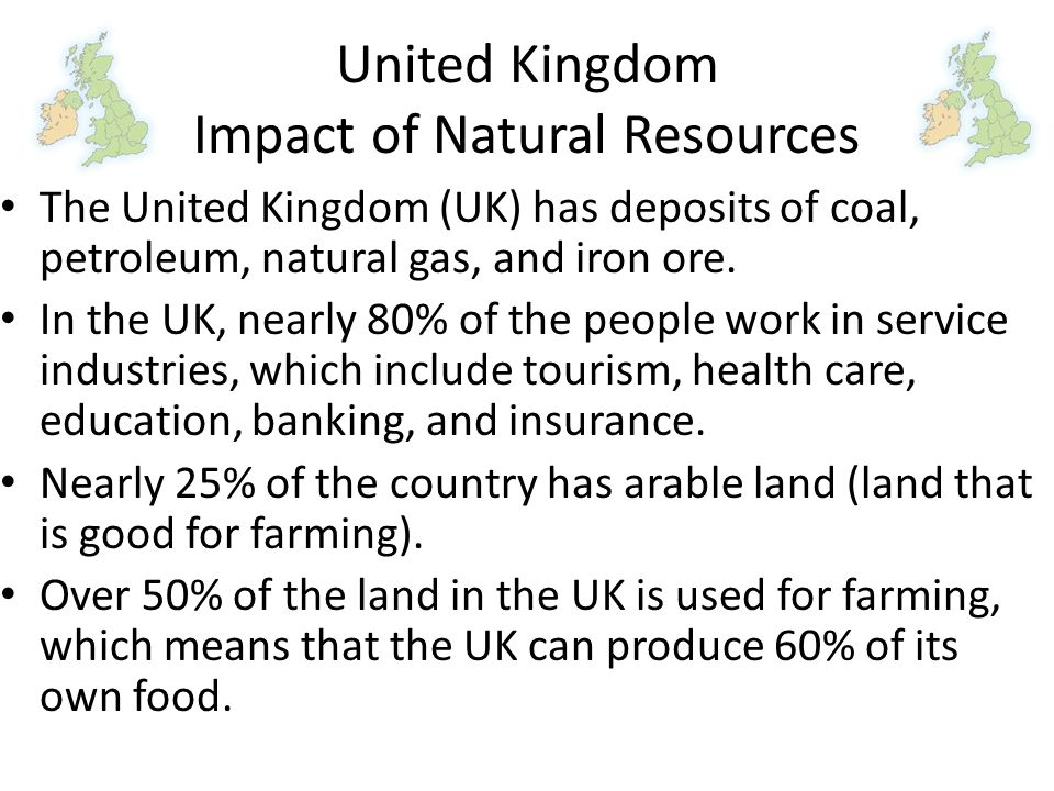 United Kingdom Impact of Natural Resources
