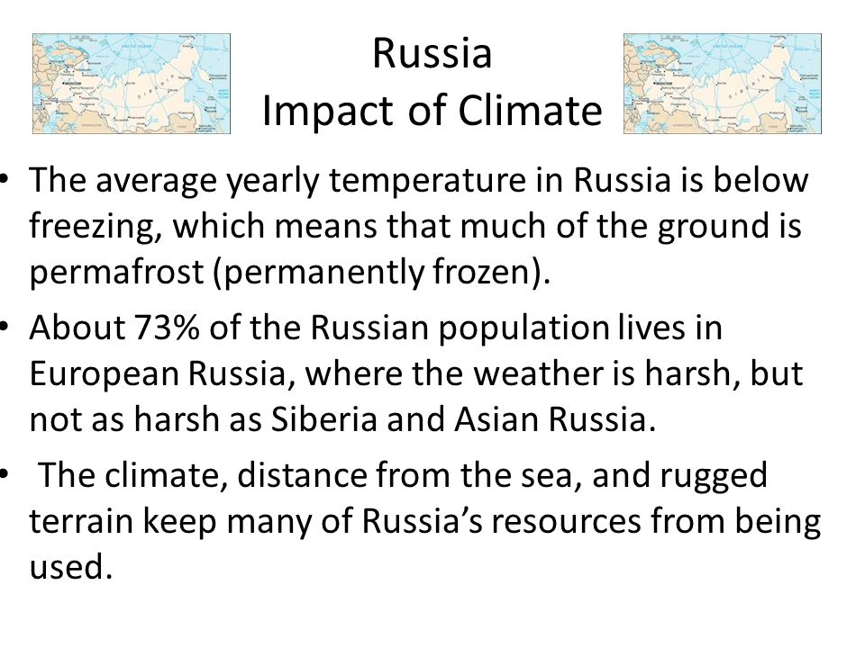 Russia Impact of Climate