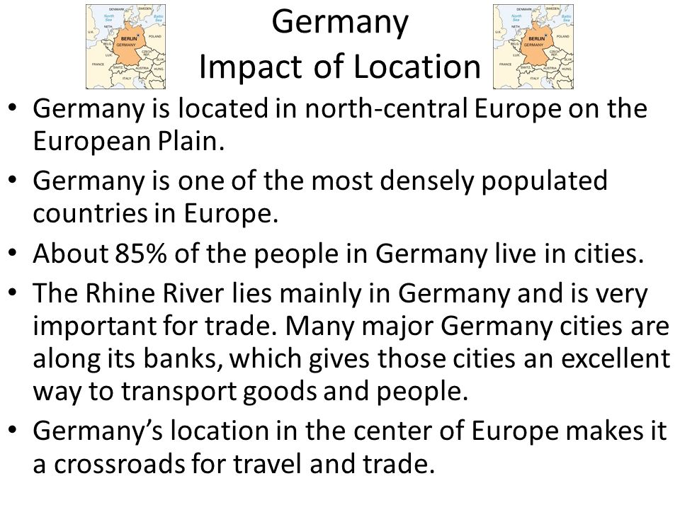 Germany Impact of Location