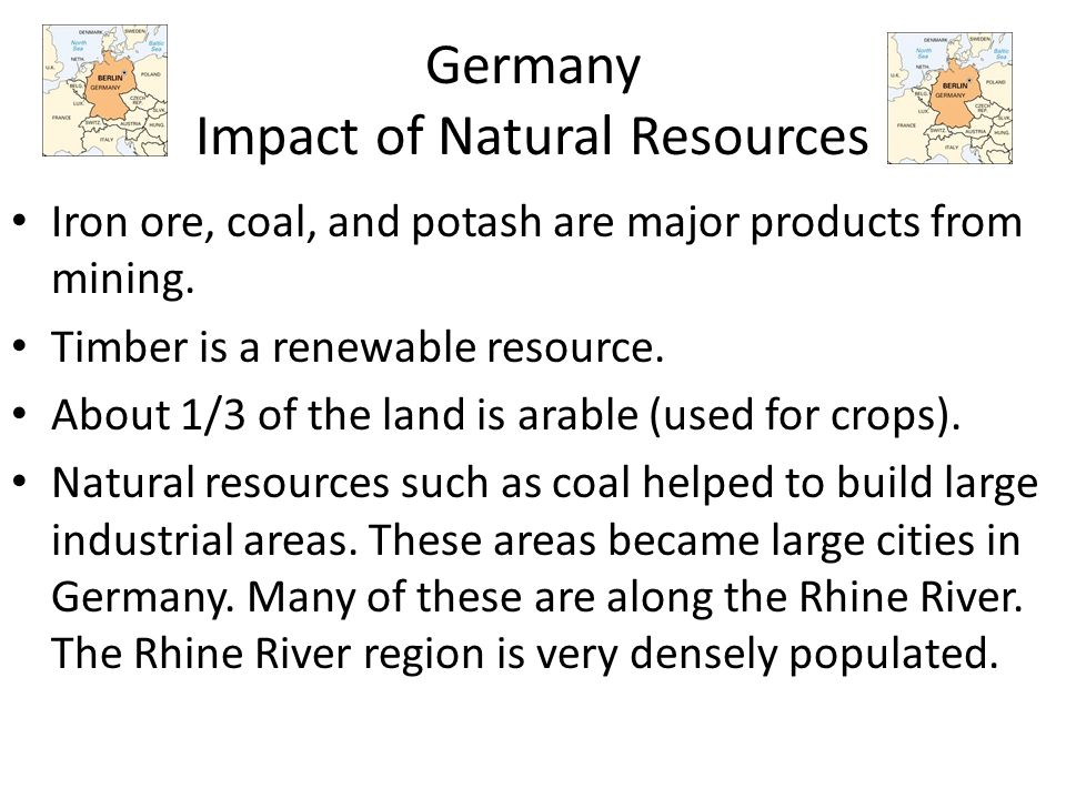 Germany Impact of Natural Resources